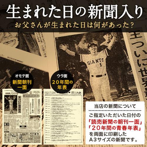 70年前の記念日の新聞付き